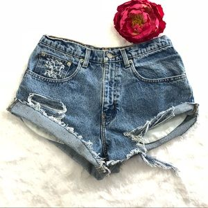 Distressed Custom Polo Ralph Lauren Denim Shorts